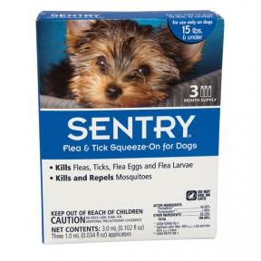 Sentry капли от блох, клещей и комаров для собак весом до 7 кг (1 шт)