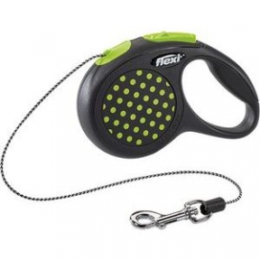 Flexi Design 3m, трос,черный-зеленый  8kg