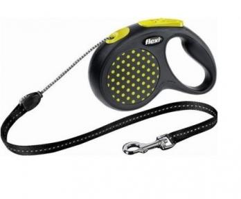 Flexi Design 5m,трос, черный-желтый 12kg