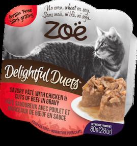 ZOE Delightful Duets Pate д/кошек  курица-говядина 80г