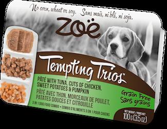 ZOE Tempting Trios д/собак тунец-курица 100г