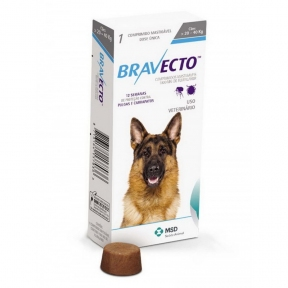 Bravecto жевательня таблетка от блох и клещей для собак для больших пород 20 - 40кг