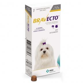 Bravecto жевательня таблетка от блох и клещей для собак для очень маленьких пород 2-4,5кг