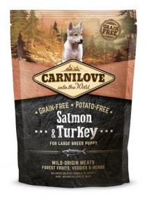 Carnilove Salmon&Turkey Large Breed Puppy сухой корм для щенков крупных  пород 1.5kg