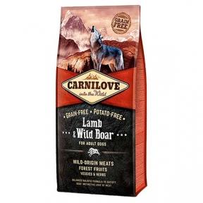 Carnilove Lamb&Wild Boar Сухой корм для взрослых собак с Ягненком и кабаном 12kg