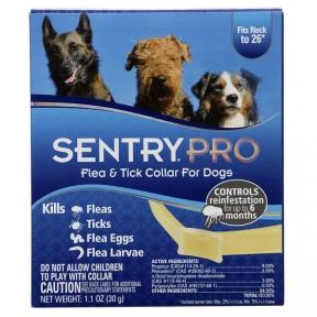 Sentry Pro ошейник от блох, клещей, яиц и личинок блох для собак 56 см