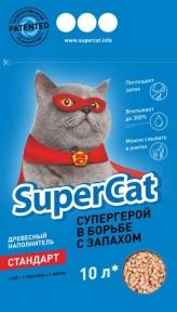SuperCat Древесный наполнитель Стандарт 10л