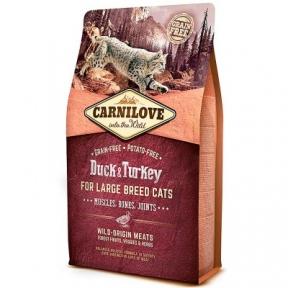 Carnilove Duck&Turkey Large Breed корм для кошек крупных пород 6kg