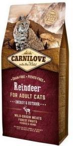 Carnilove Raindeer Energy&Outdoor беззерновой корм для кошек с северным оленем 6kg