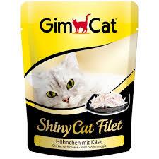 GimCat ShinyCat Filet пауч для котов с курицей и сыром 70г