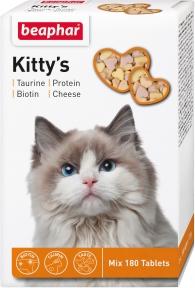 Beaphar Kitty's витамины для котов с таурином биотином, протеином и сыром 180шт (1 шт)