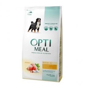 OptiMeal сухой корм для собак больших пород с курицей 1,5кг