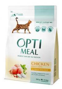OptiMeal сухой корм для котов с курицей 300г