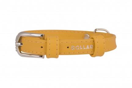Collar Glamour ошейник без украшений XS 12мм 21-29см желтый