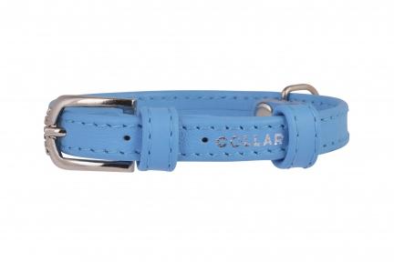 Collar Glamour ошейник без украшений XS 9мм 19-25см голубой