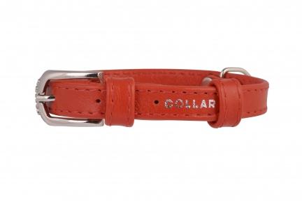 Collar Glamour ошейник без украшений XS 9мм 19-25см красный