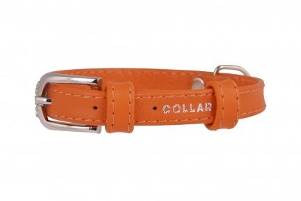Collar Glamour ошейник без украшений XS 9мм 18-21см оранжевый