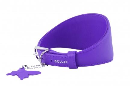 Collar Glamour ошейник для борзых фиолетовый 15мм 26-32см