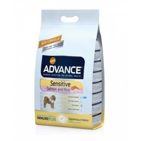 Advance Dog Sensitive гипоаллергенный корм для собак с лососем и рисом12кг