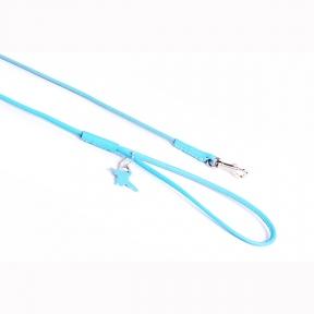 Collar Soft поводок круглый 4мм\122см голубой
