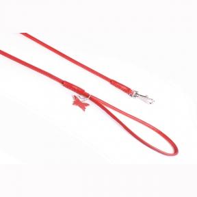 Collar Soft поводок круглый 4мм\122см красный