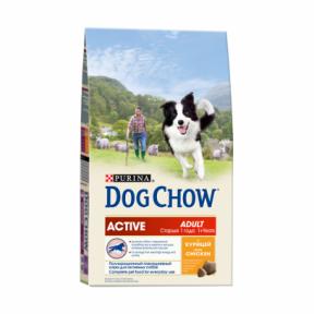 DOG CHOW Active для взрослых активных собак, с курицей 2,5kg