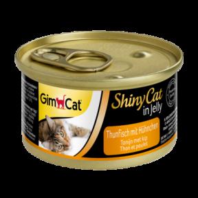 Gimpet ShinyCat лакомство для котов с тунцом и цыпленком 70g