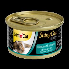 Gimpet ShinyCat лакомство для котов с цыпленком и креветками 70g