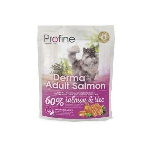 ProFine DERMA  лосось и рис для длинношерстых и полудлинношерстых котов и кошек 300g