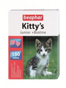 Beaphar Kitty's Junior биотин витамины для котят 150 таб