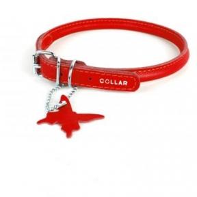 Collar Glamour ошейник круглый XS 25-33см красный