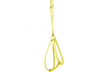 Collar Glamour Шлея круглая с поводком желтая 42-60см/46-64см