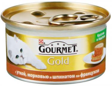 Gourmet Gold с уткой, морковью и шпинатом 85г