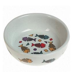 Karlie-Flamingo Color Fish КАРЛИ-ФЛАМИНГО КОЛОР ФИШ миска для кошек, с рисунком цветных рыбок 13х4см