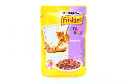 Purina Friskies Влажный корм для котят с ягненком 100г
