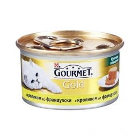 Gourmet Gold кусочки в паштете с кроликом по-французски 85г