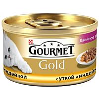 Gourmet Gold двойное удовольствие с уткой и индейкой 85г
