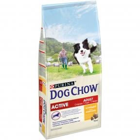 DOG CHOW Active для взрослых активных собак, с курицей 14kg