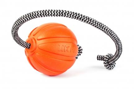Liker Cord 7 - мячик со шнуром для собак мелких и средних пород 7см/30см