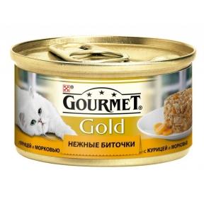 Gourmet Gold нежные биточки курица и морковь 85г