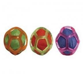 Croci Игрушка для собак мяч тканевой в силиконовой сетке 8см