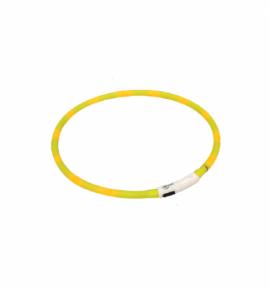 Croci Ошейник светящийся LED/USB 40cm желтый