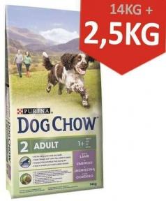 DOG CHOW Active для взрослых активных собак, с курицей 14kg + 2,5kg