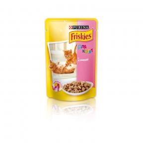Purina Friskies Влажный корм для котят с курицей 100г