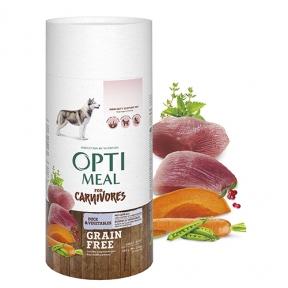 OptiMeal беззерновой сухой корм для собак утка и овощи 650г