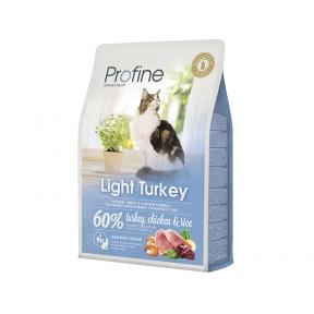 ProFine LIGHT натуральное мясо индейки и рис для котов и кошек с избыточным весом 2kg