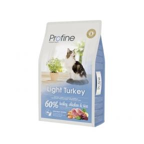 ProFine LIGHT натуральное мясо индейки и рис для котов и кошек с избыточным весом 10kg