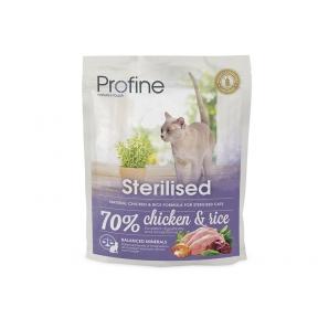 ProFine STERILISED  куриное мясо и рис для стерилизованных и кастрированных кошек и котов 300g