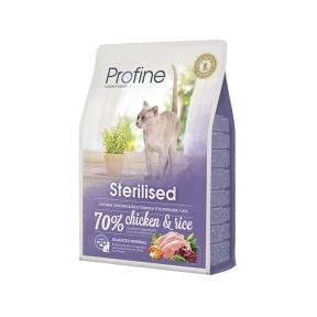 ProFine STERILISED  куриное мясо и рис для стерилизованных и кастрированных кошек и котов 2kg