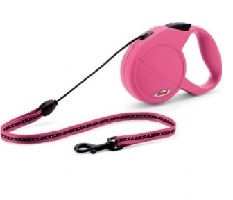 Flexi Classic Basic S 5м, трос, розовый 12kg